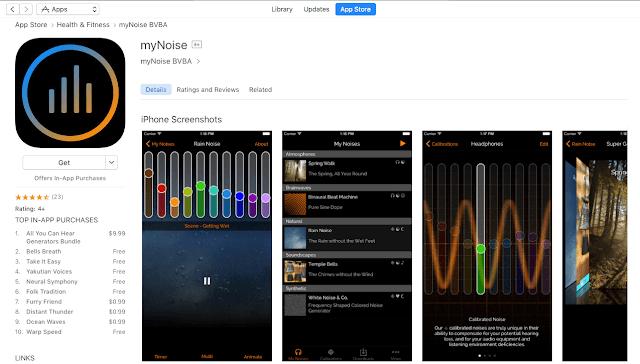 iPhone用myNoiseアプリ