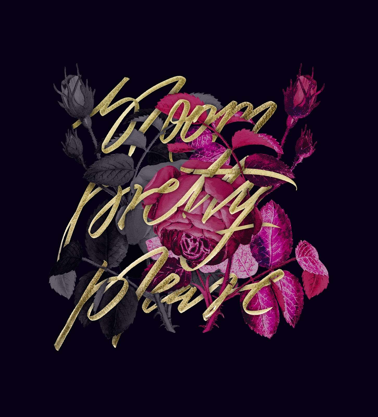 Bloom Pretty Please Wallpaper Pstel Feather Studio