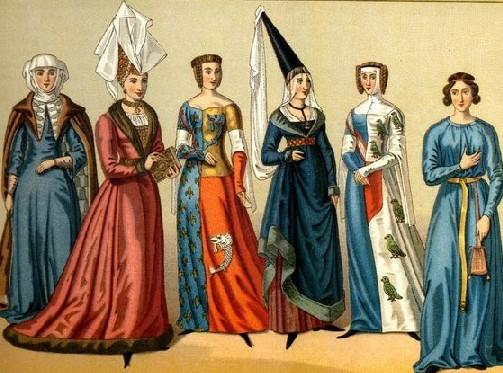 l'abbigliamento medievale femminile