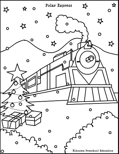 polar express train coloring pages - photo#1