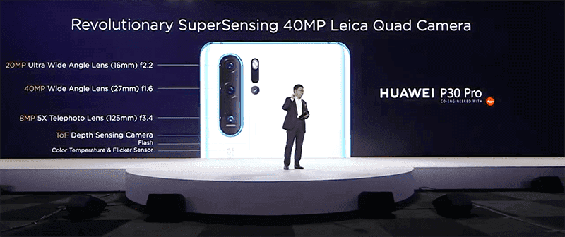 "Huawei said Samsung can't take a picture of the ""Galaxy"" like P30 Pro"