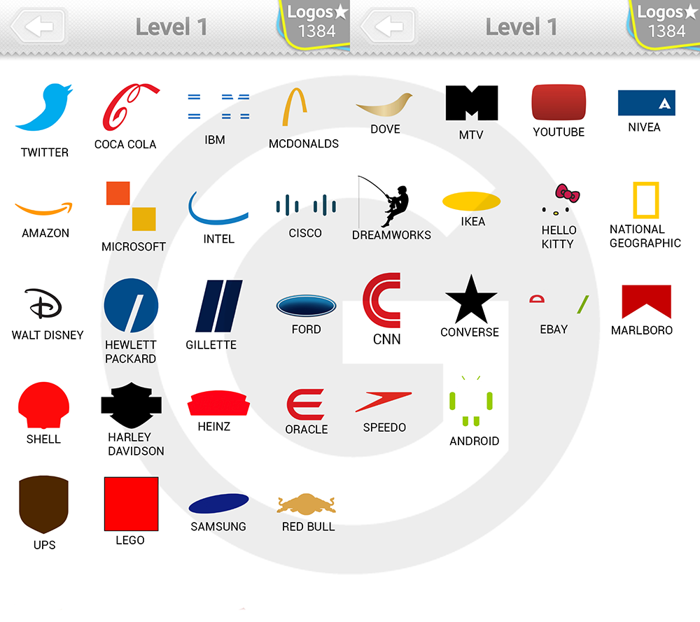 Logo Quiz Expert Level 1 - Type Logos