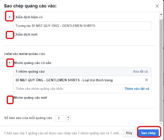 Cách Tạo Nhanh Quảng Cáo Facebook Bằng Chức Năng Copy 7