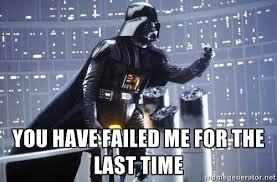 Star Wars Darth Vader angry about the hot air balloon not running