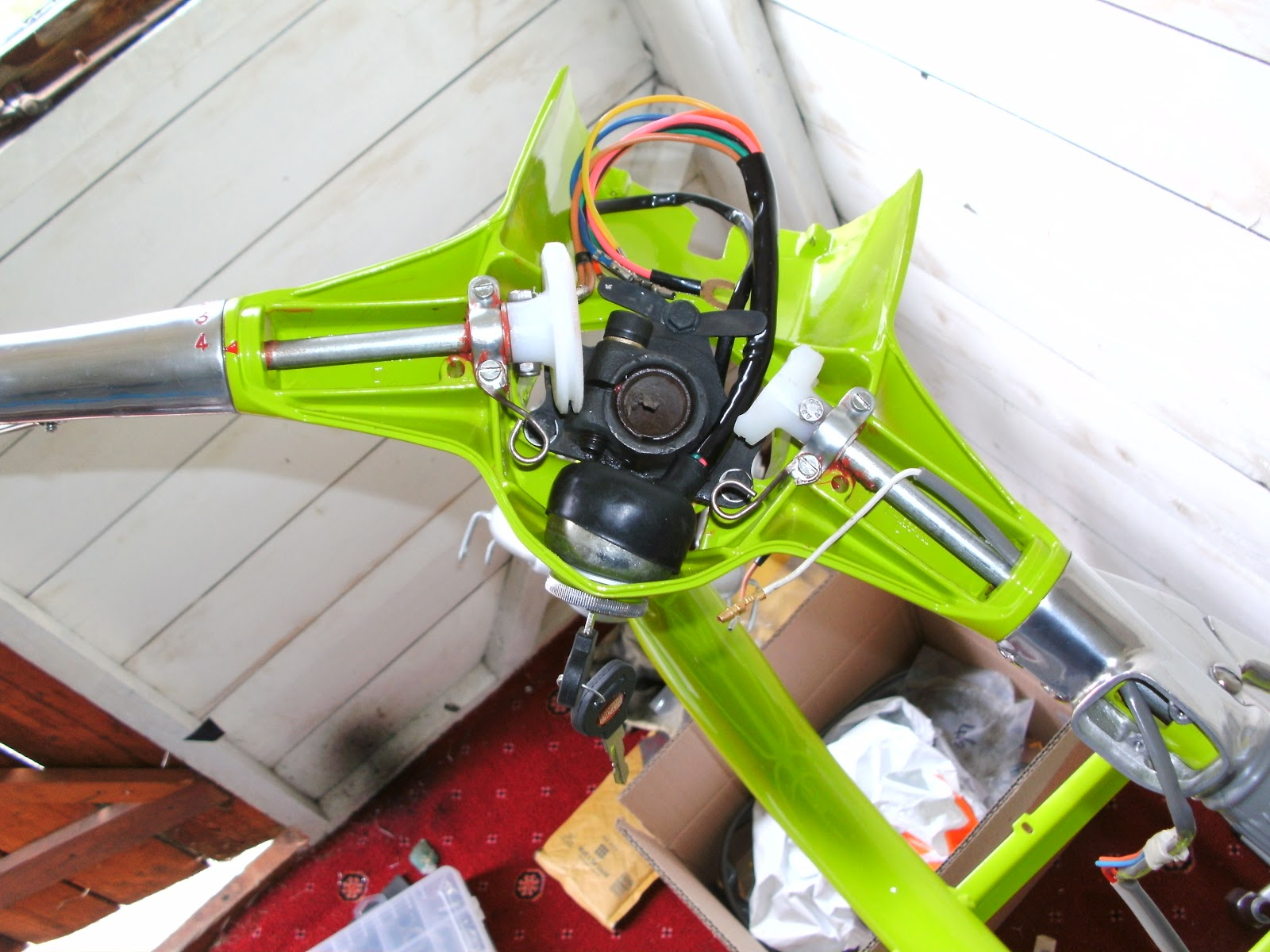 lambretta wiring diagram with indicators shark brain serveta li 150 headset and wheels