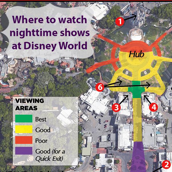 Melhores lugares para ver o show de fogos do Magic Kingdom na Disney