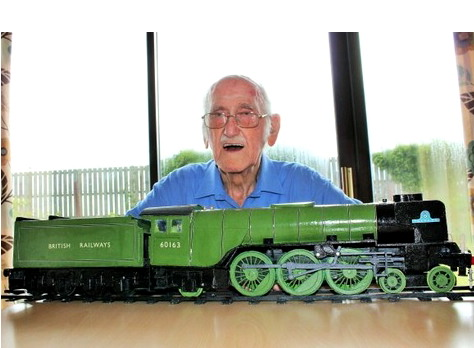 Pensioner George Day recently completed a matchstick and copper wire model of the Tornado steam locomotive