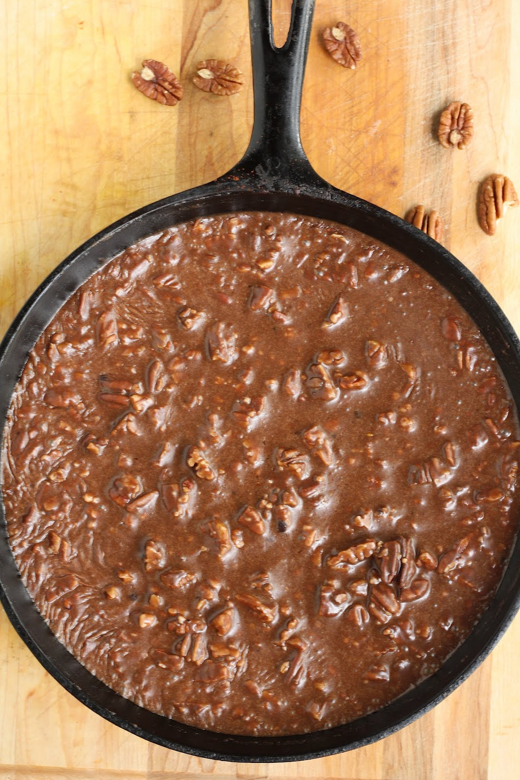 Gooey Chocolate Skillet Cake