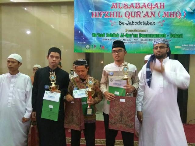 """Salah Seorang Pengajar LTQ Menjuarai Musabaqah Hifzhil Qur'an (MHQ) Se-Jabodetabek"""