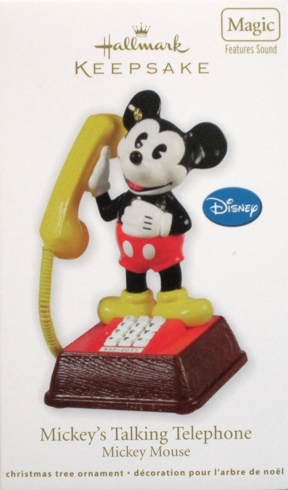 Pop Culture Shop Mickey Mouse Talking Telephone Ornament