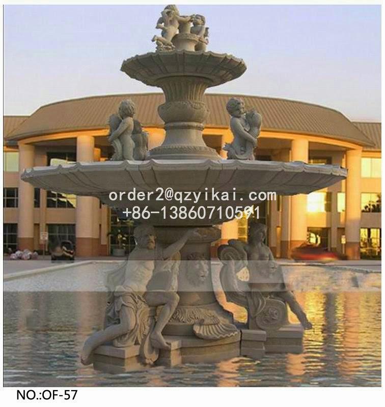 Stone Water Fountain Outdoor.Miranda Outdoor Carved Stone Water Fountain