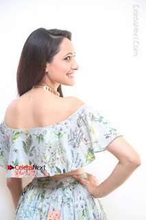 Actress Pragya Jaiswal Stills in Floral Dress at turodu Interview  0055.JPG
