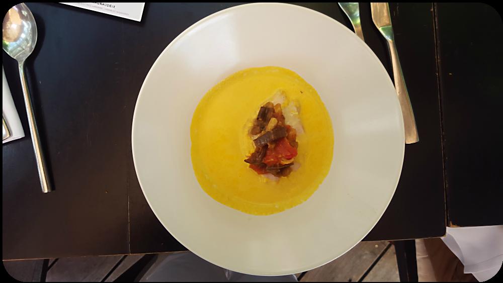 Karottensuppe mit Kichererbsen und etwa pochierter Hühnerbrust, eine Idee von Ratatouille | Arthurs Tochter Kocht von Astrid Paul
