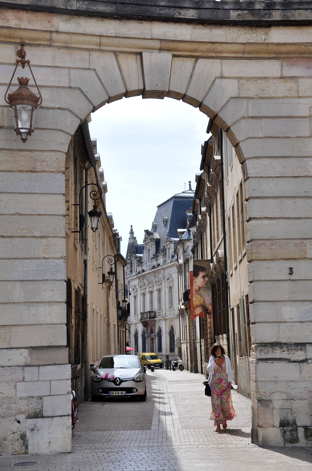 Street arch in Dijon, Burgundy, France