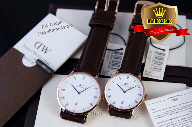Đồng hồ cặp đôi dây da DW Đ032500
