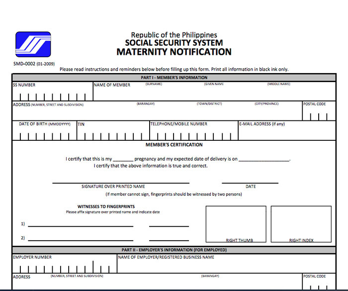 How To Reimburse Sss Maternity Benefits