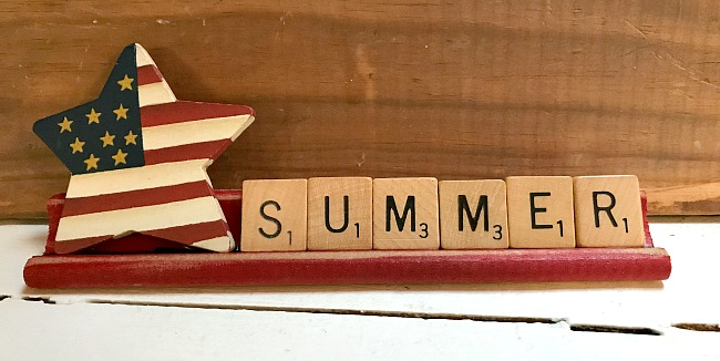DIY Vintage scrabble board signs
