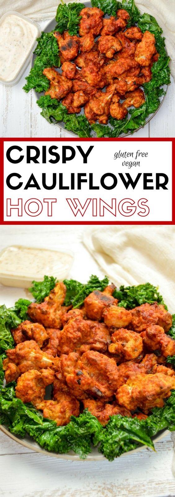 Crispy Cauliflower Hot Wings