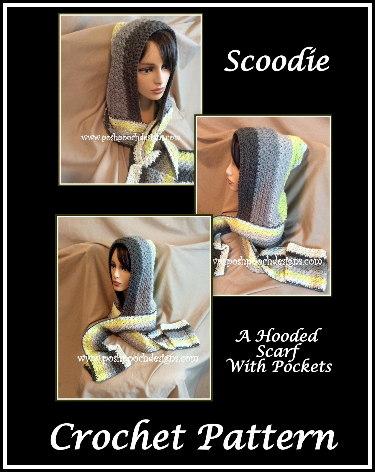 Free Crochet Pattern For Hooded Scarf With Pockets Awesome Decorating Design
