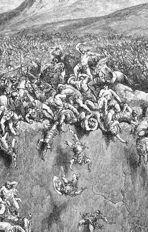 Sansão destroçou o exército filisteu com a queixada de um jumento