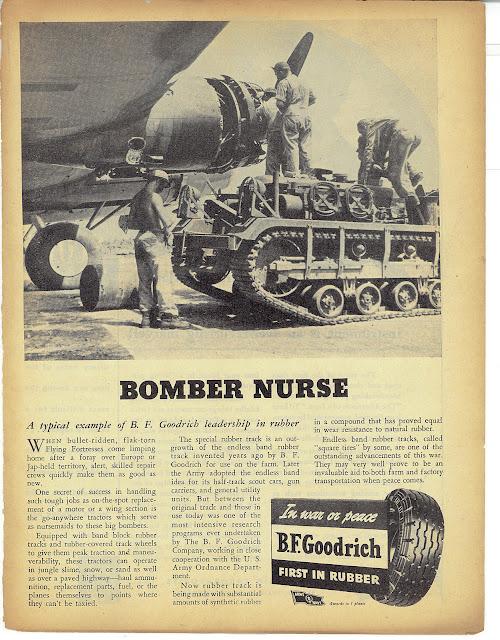 Реклама BF Goodrich времен Второй Мировой войны