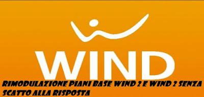 Rimodulazione piani base Wind: da quattro euro mensili