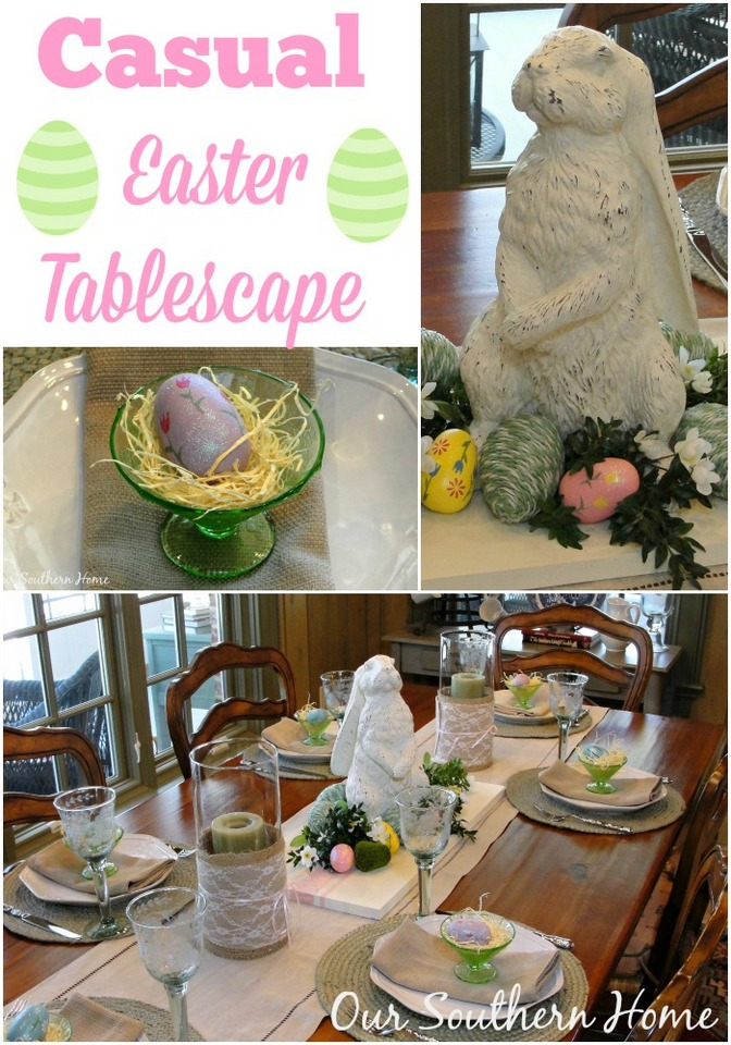 http://www.oursouthernhomesc.com/2014/03/casual-easter-tablescape.html