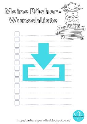 Download - Bücher-Wunschliste zum Ausmalen