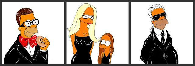 Simpsons-Fashion- Elbaz-Donatella-Versace-Allegra-Versace-Karl Lagerfeld
