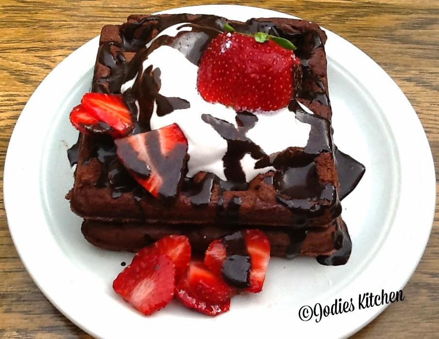 Jodies Kitchen: Chocolate Brownie Waffles