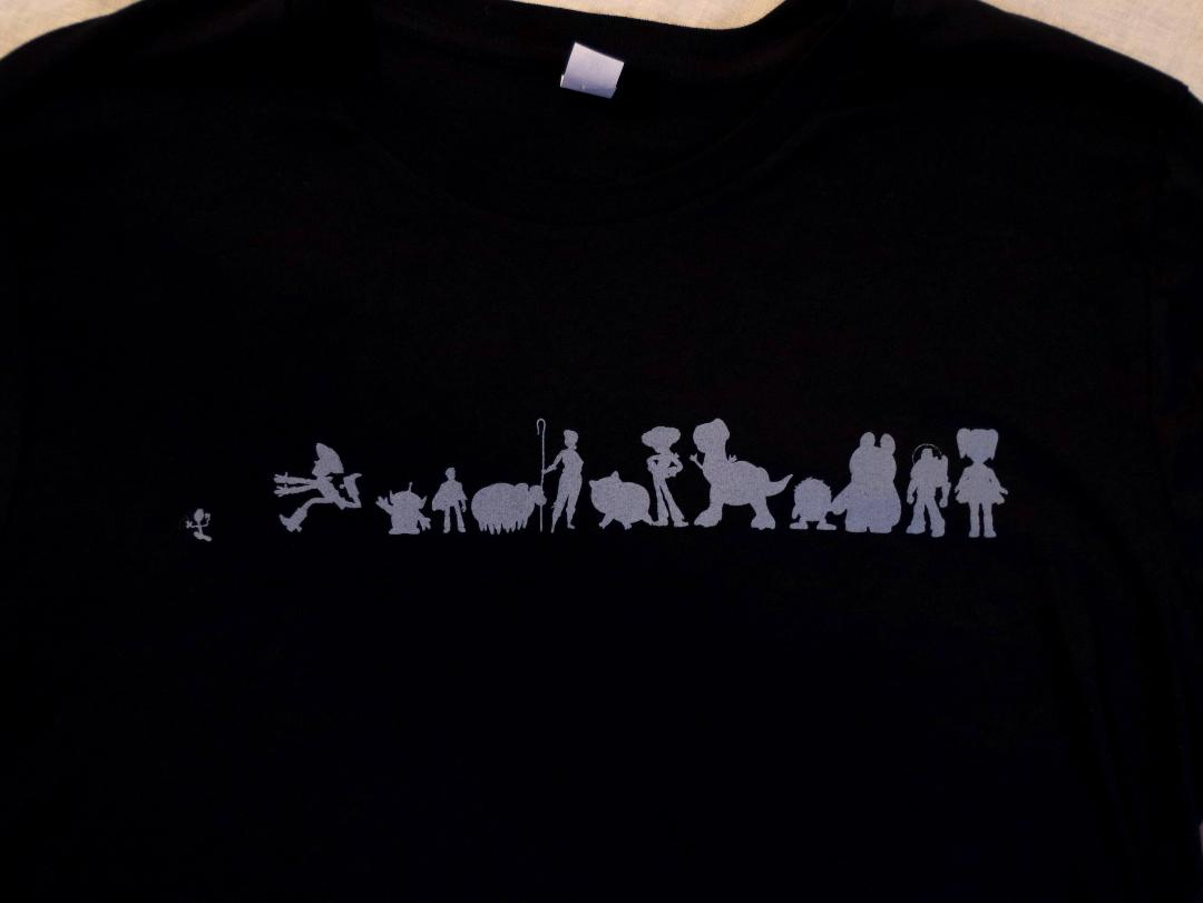 Toy Story 4 Pixar Studio Store Exclusive Character Silhouette Tee