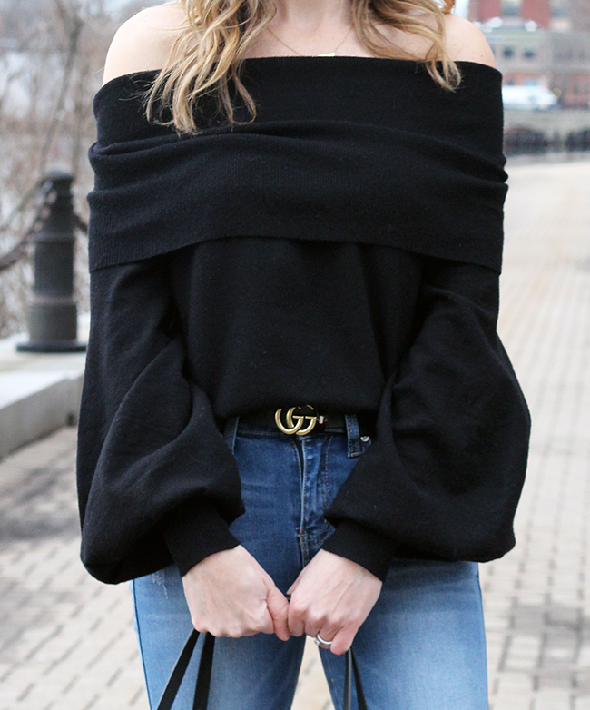 Soft off the shoulder sweater