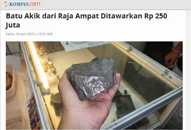 Batu Akik Raja Ampat Seharga 250 Juta Rupiah