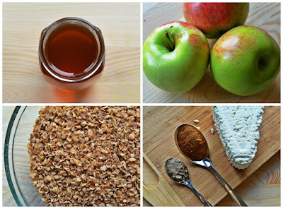 Gryczane muffiny z jabłkami i cynamonem - składniki