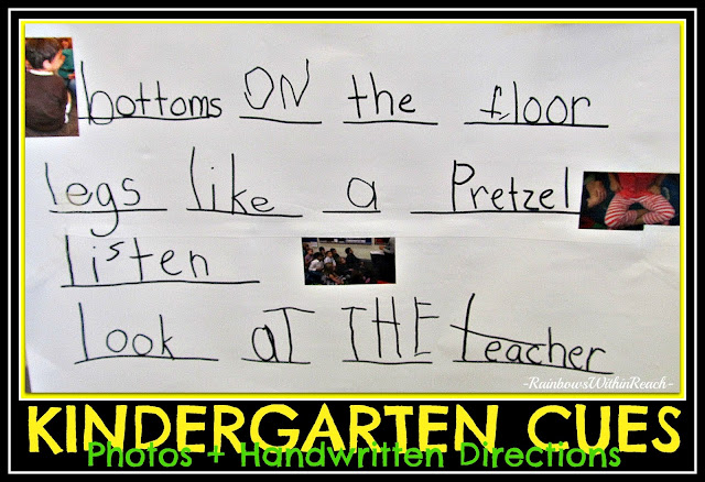 photo of: Visual Rules for Kindergarten Classroom using photographs