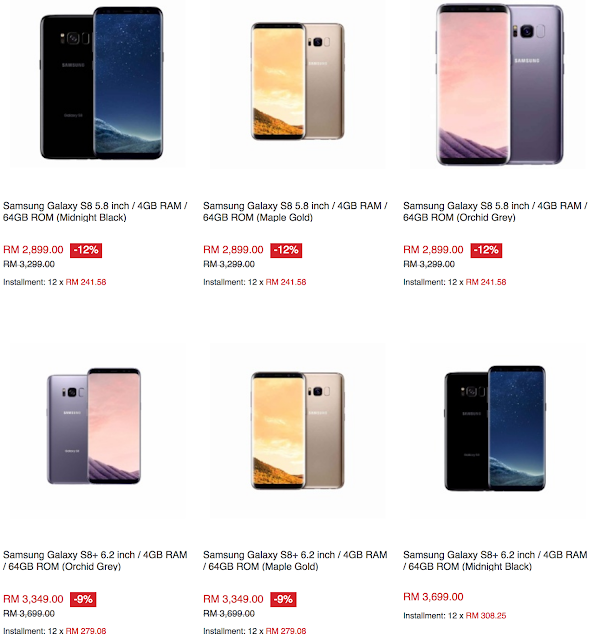 Samsung Galaxy S8 Lazada Malaysia Price Sale Discount Offer Promo
