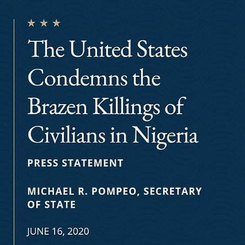 """Donald Trump's Government Attacks Buhari's Government Condemns """"Brazen Killings In Nigeria"""""""