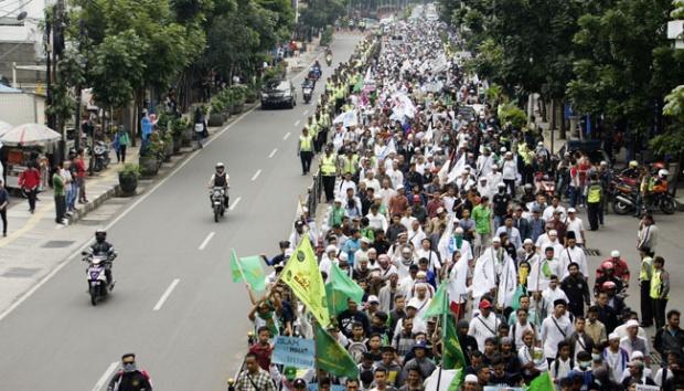 Peserta Demo Dari Sumatera Barat Mencapai 5.000 Orang