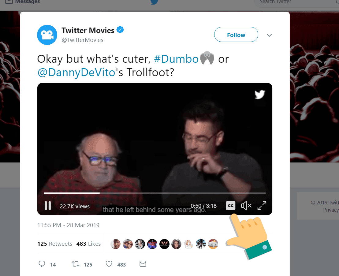 Subtitles on Twitter videos are now available on Web, iOS and Android