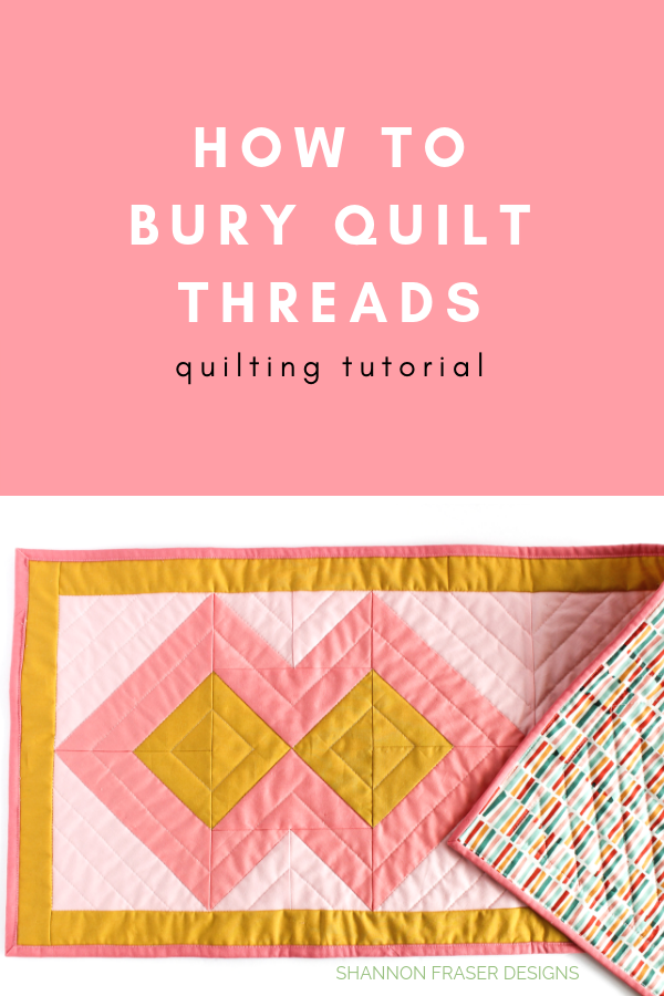 How to bury quilt threads + 5 top tips | Quilting Tutorial | Shannon Fraser Designs