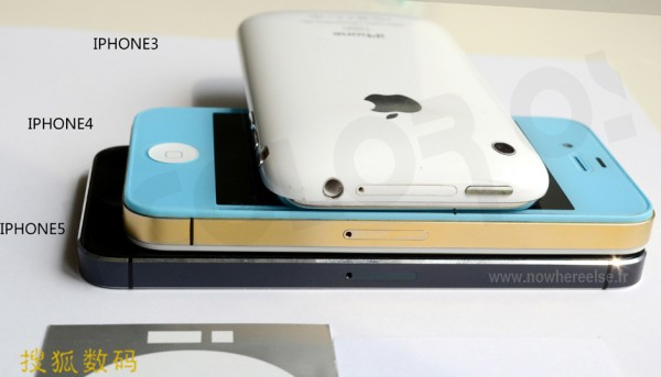 iPhone 5 Size In Comparison With iPhone 4S & iPhone 3GS