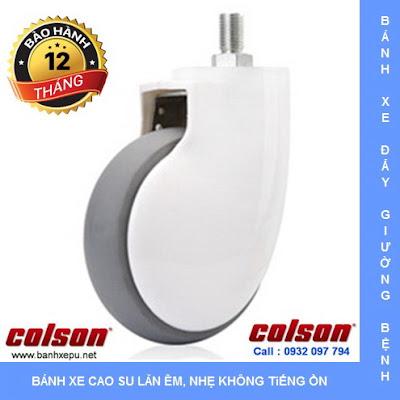 Bánh xe đẩy giường y tế Colson phi 125 lăn êm không ồn | BN-5654-465 banhxedaycolson.com