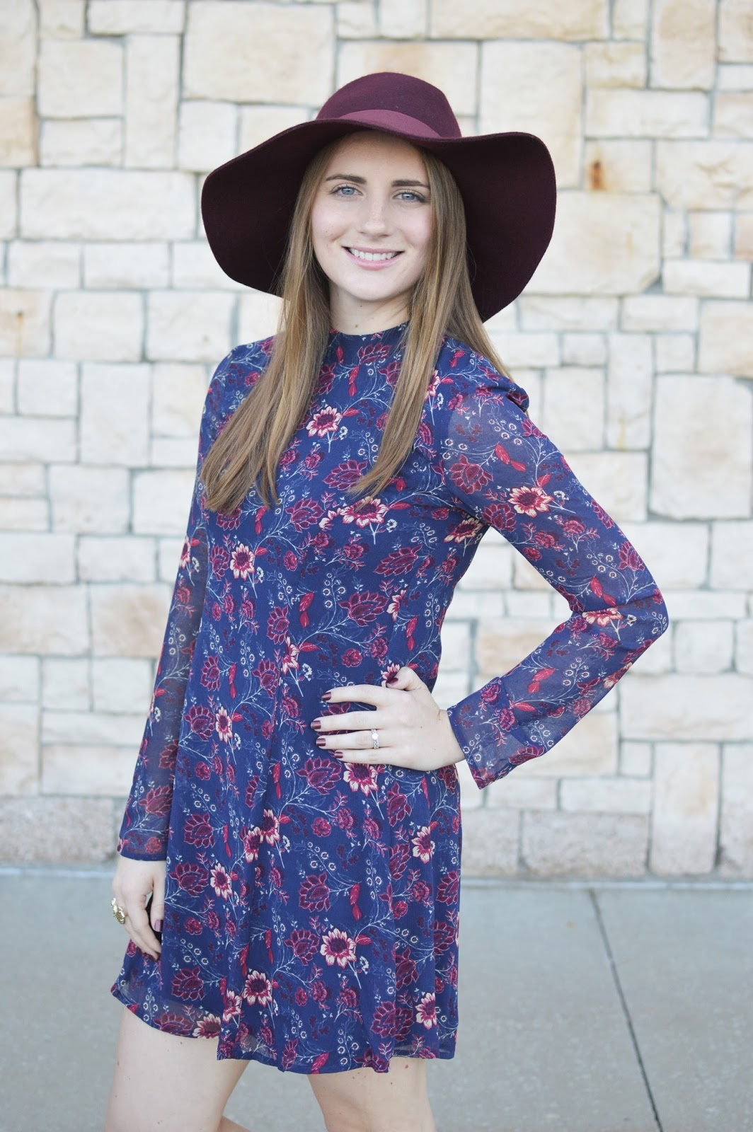 speechless mock neck floral print dress | floral print dresses for fall | cute dresses for fall for cheap | fall outfit ideas