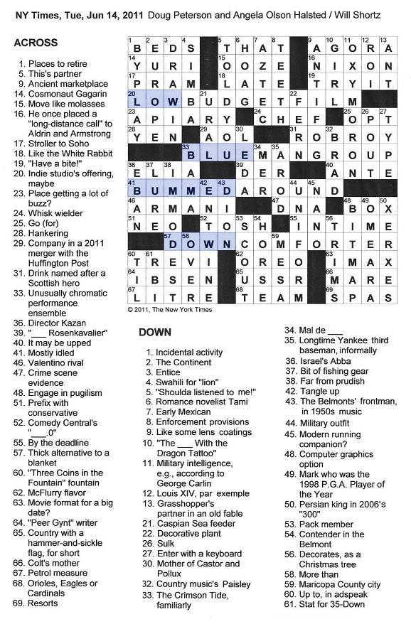 crossword am times enlarge york