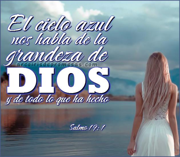 los cielos hablan mensajes cristianos con imágenes