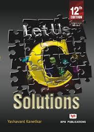 Let us C solutions Download PDF (Yashwant Kanetkar) | Online