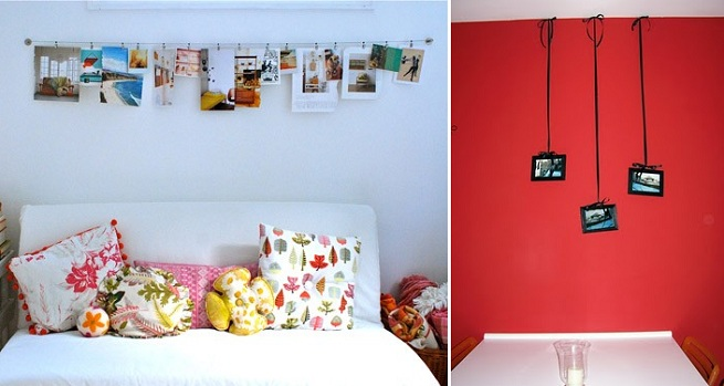 Home Decor Ideas: Ideas for hanging pictures without frames