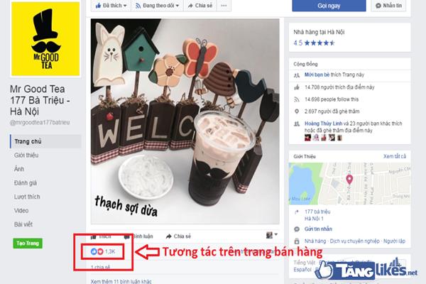 like tuong tac tren fanpage