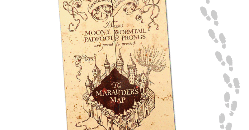 photo relating to Harry Potter Marauders Map Printable called How toward deliver a Do-it-yourself Marauders Map shirts (with free of charge Printable