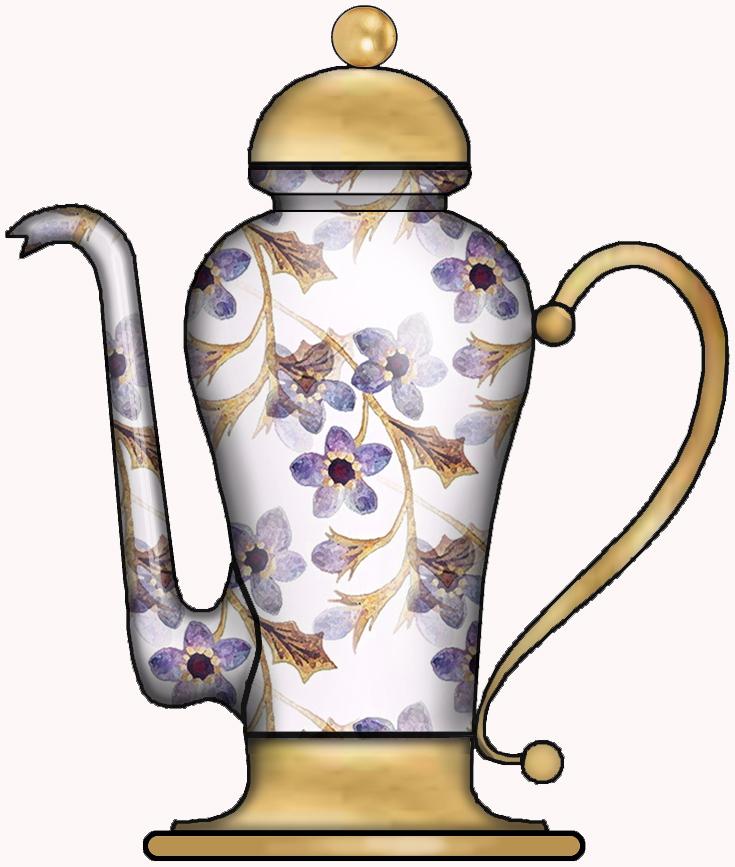 ArtbyJean - Purple Wood Roses: PRETTY FANCY COFFEE POTS ...